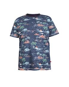 D555 Chester Printed T-Shirt Navy Marl