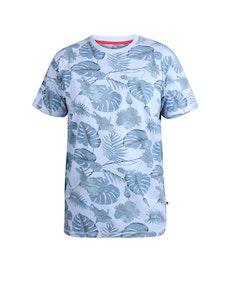 D555 Seymour Printed T-Shirt Blue Marl