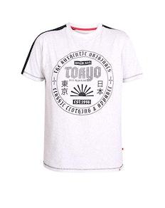 D555 Walton Tokyo Printed T-Shirt Off White Marl