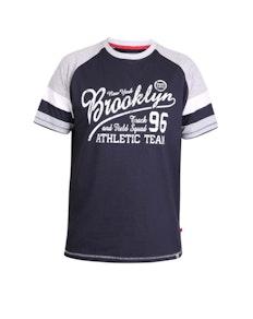 D555 Jones Raglan Printed T-Shirt Navy