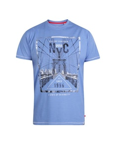 D555 Monty NYC Printed T-Shirt Blue