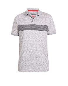 D555 Hunter Reno Polo Shirt With Chest Stripe Grey