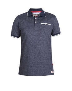 D555 Jakeman Striped Polo Shirt Navy