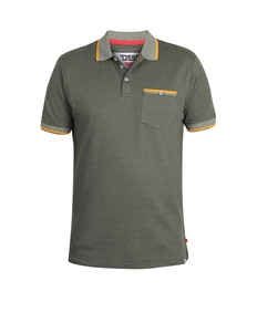 D555 Marshall Tipped Polo Shirt Khaki