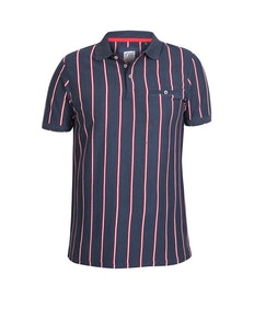 D555 Martel Couture Striped Polo Shirt Navy