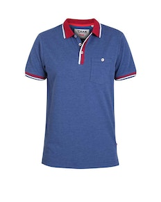 D555 Nigel Contrast Polo Shirt Denim