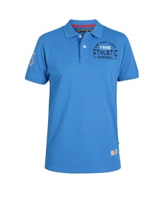 D555 Parker Embroidered Chest Polo Shirt Blue