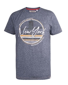D555 Harbour New York Bridge Printed T-Shirt Navy