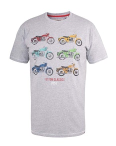 D555 Bathurst Motorbike T-Shirt Grey