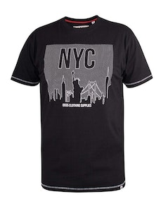 D555 Willoughby NYC Print T-Shirt Black