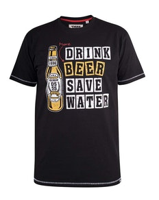 D555 Salford Drink Beer Printed T-Shirt Black