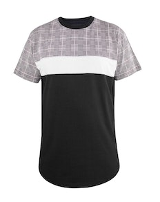 D555 Vista Cut and Sew T-Shirt Grey Check