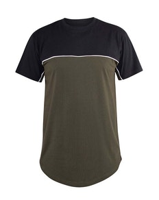D555 Buckland Cut and Sew T-Shirt Khaki