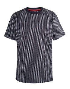 D555 Canton Printed T-Shirt Navy