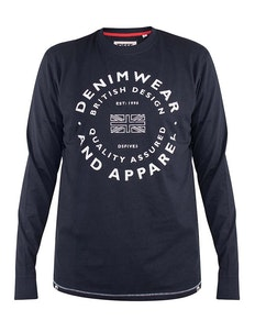 D555 Havana Denimwear Printed Long Sleeve T-Shirt
