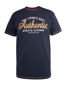 D555 Jasper Authentic Printed T-Shirt Navy