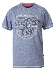 D555 Epson San Diego Crew Neck Printed T-Shirt Blue