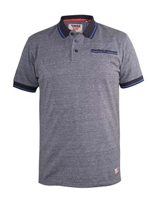 D555 Albany Polo Shirt With Chest Pocket Denim Marl