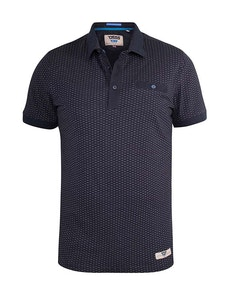 D555 Auckland Jersey Polo Shirt With Chest Pocket Navy
