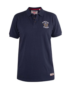 D555 Leroy Polo Shirt With Chest Embroidery Navy