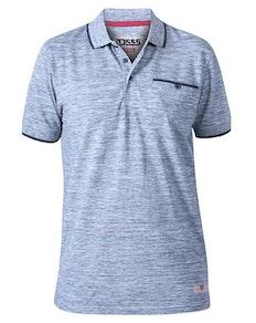 D555 Isaac Reno Pique Polo Shirt Blue