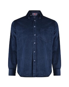 KAM Long Sleeve Corduroy Shirt Navy