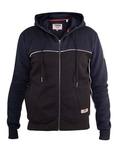 D555 Vincent Full Zip Hoody Black