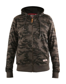 D555 Antonio Camo Printed Zip Through Hoody