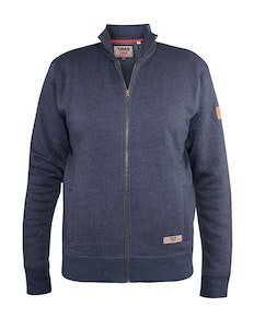 D555 Lamson Funnel Neck Full Zip Sweatshirt Navy