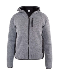 D555 Ozark Zip Through Hoody With Sherpa Lining Grey