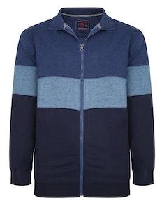 KAM Cut & Sew Zip Sweatshirt Denim