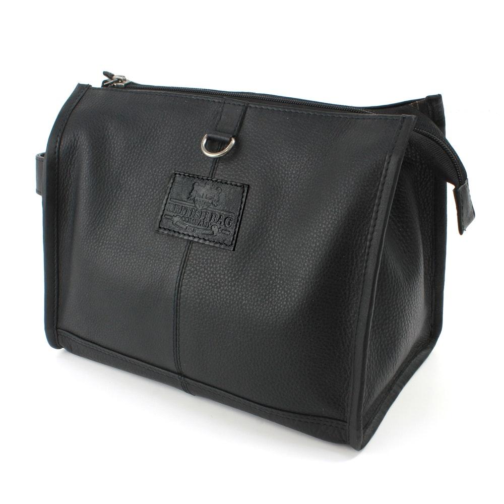 The British Bag Company Black Leather Washbag