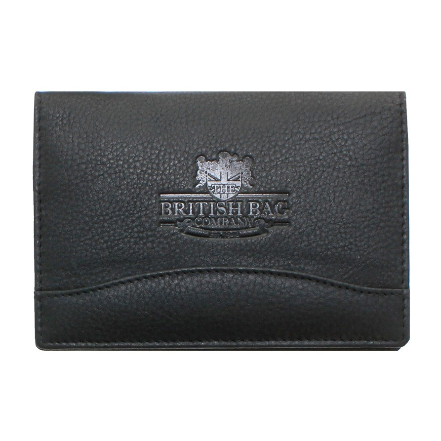 The British Bag Company Black Leather Passport Holder