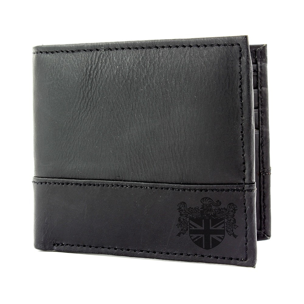 The British Bag Company Matt Black Leather Wallet