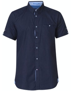 D555 Tim Short Sleeve Shirt Navy Tall
