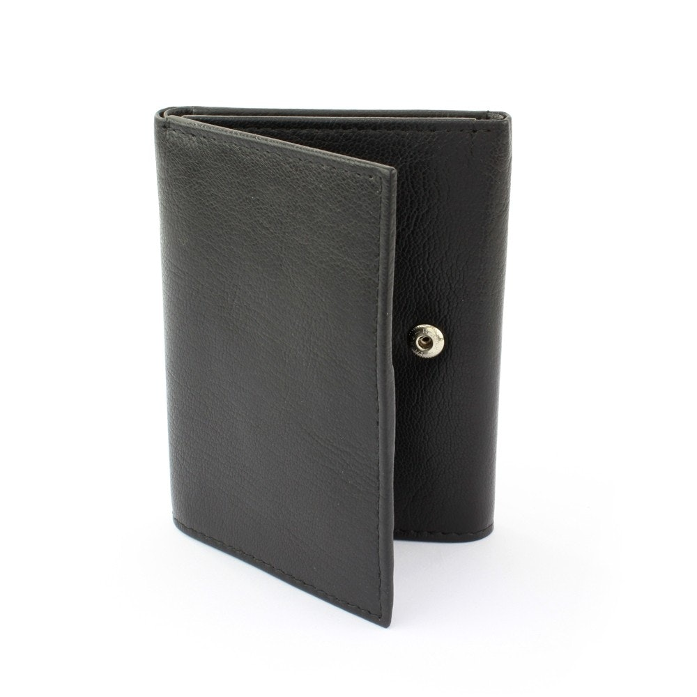 Sophos Tri Fold Leather Wallet Black