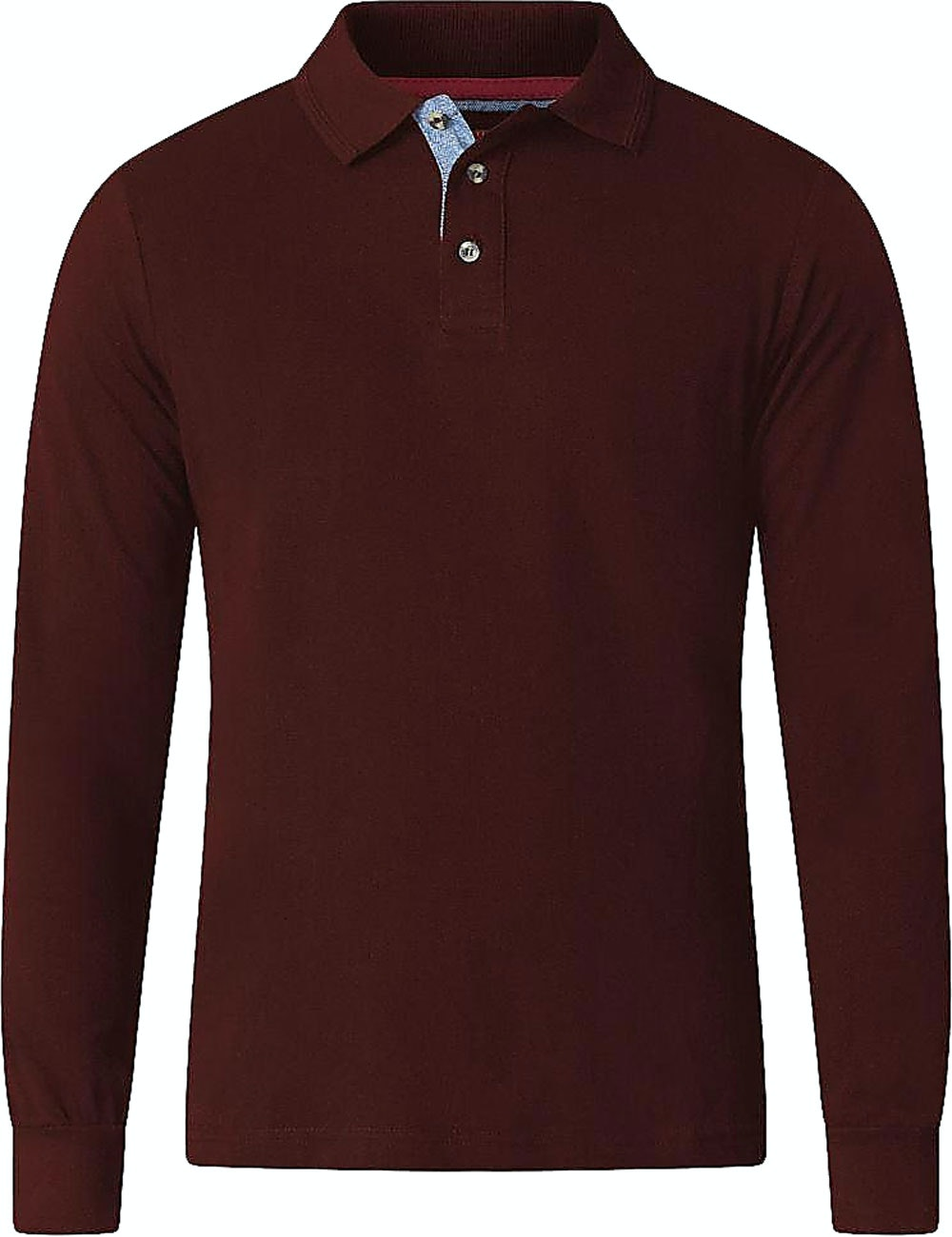 D555 Darvin Long Sleeve Polo Wine Tall