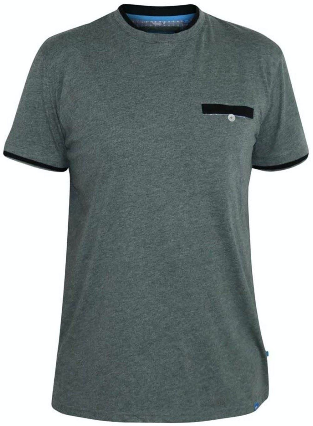 D555 Nelly Double Layer Neck & Pocket T-Shirt Khaki