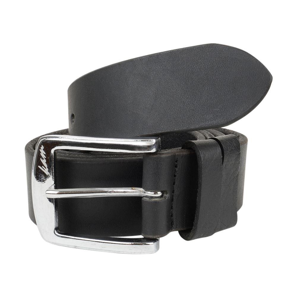 KAM Plain Leather Jeans Belt Black