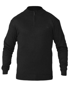 D555 Chuck Plain Zip Sweater Black