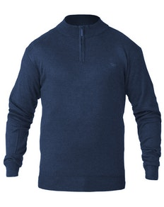 D555 Chuck Plain Zip Sweater Navy