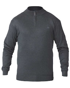 D555 Chuck Plain Zip Sweater Charcoal