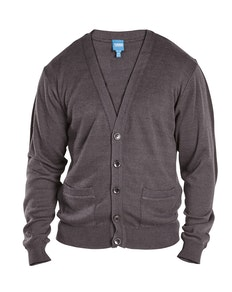 D555 Walworth Buttoned Cardigan Charcoal