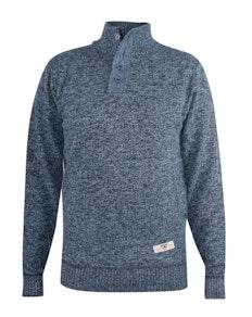 D555 Wilmington Zipper And Button Neck Sweater Blue