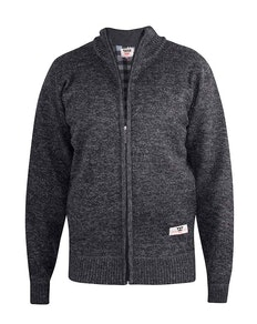 D555 Sherwood Full Zip Sweater Black
