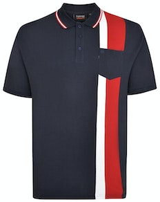 Espionage Cut & Sew Polo Shirt Navy