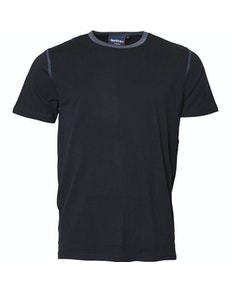 Replika Contrast Collar T-Shirt Black Tall