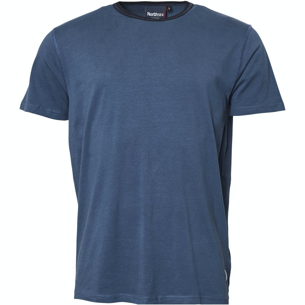 Replika Contrast Collar T-Shirt Blue Tall