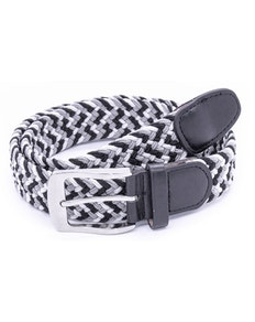 D555 Quinn Multi Colored Stretch Braided Belt