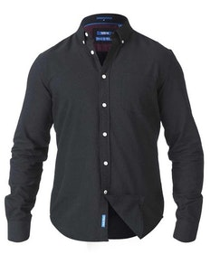 D555 Keenan Oxford Shirt Black Tall